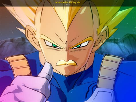 moustache ssj vegeta dragon ball fighterz skin mods