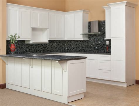 Hampton Bay Shaker Wall Cabinets by Brilliant White Shaker Ready To Assemble Kitchen Cabinets