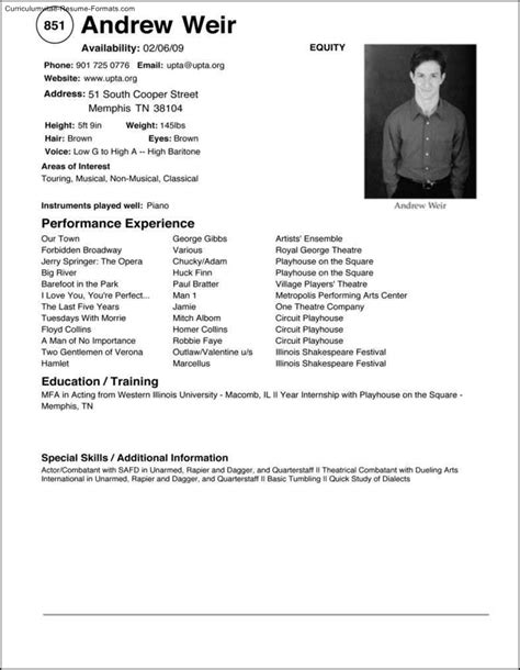 Windows Cv Template by Resume Curriculumvitae