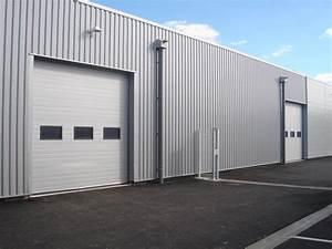 porte sectionnelle pour hangar With porte de garage enroulable avec porte intérieure semi vitrée