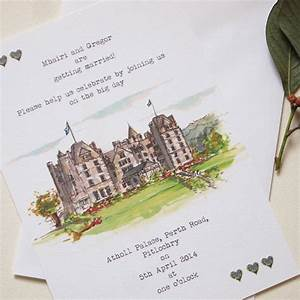 personalised wedding venue invitations by homemade house With wedding invitation venue picture
