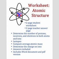 Atoms And Atomic Structure Worksheet  The End, End Of And Learning