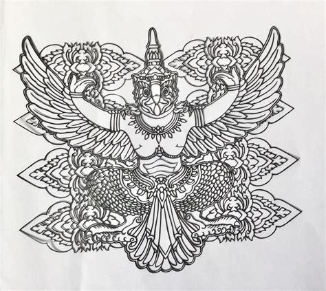 Gambar Burung Garuda Untuk Diwarnai