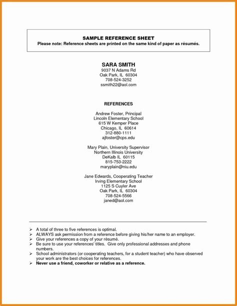 Who To Put As References by 76 Inspiring Gallery Of Sle Resume With Professional
