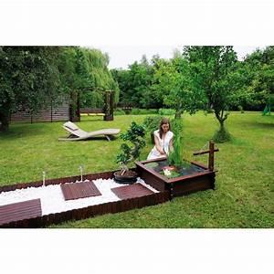 bassin de jardin en bois carre 290 l tokyo bache pompe With bassin de jardin bois