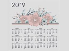 Free Download Blank Yearly Printable 2019 Calendar PDF
