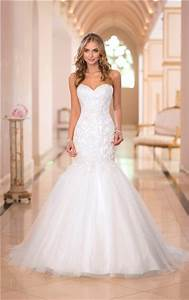 stunning trumpet mermaid sweetheart lace tulle sparkly With lace sparkle wedding dress