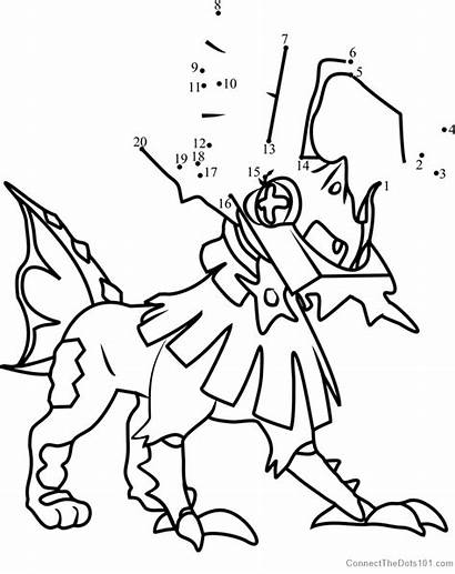 Pokemon Coloring Moon Sun Pages Type Lycanroc