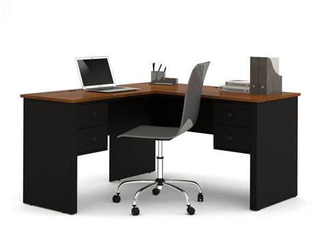 Bestar Somerville L Shaped Desk by Bestar Somerville L Shaped Desk In Black Tuscany Brown