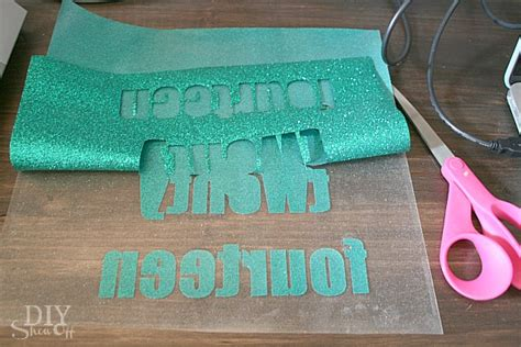 how to make iron on letters diy glitter iron on vinyl tutorial diy show diy