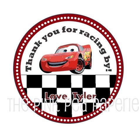 custom printable cars stickers  gift tags featuring