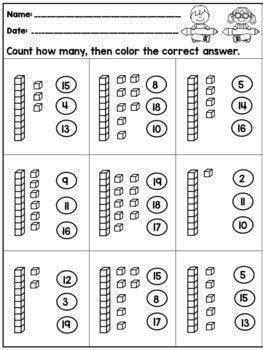 tens   worksheets  kindergarten tens