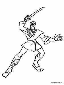 Free Printable Ninja Coloring Pages For Boy