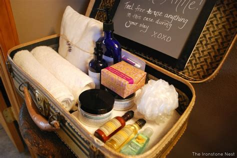 25+ Best Ideas About Guest Welcome Baskets On Pinterest