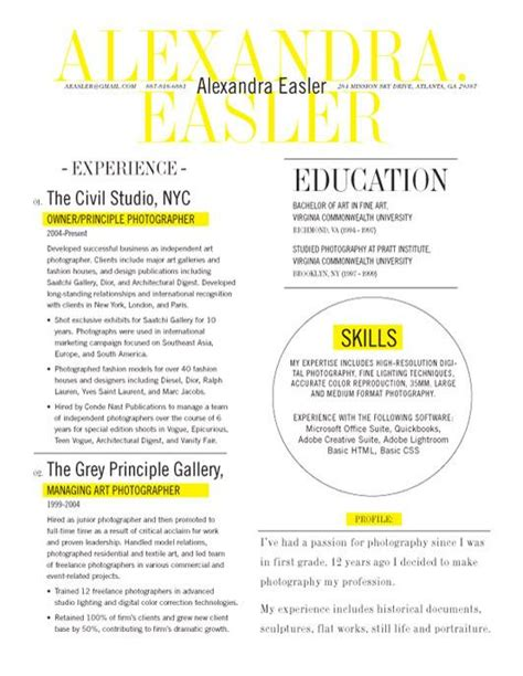 Best New Resume Designs by Resume Template New Yorker Yellow Loft Resumes