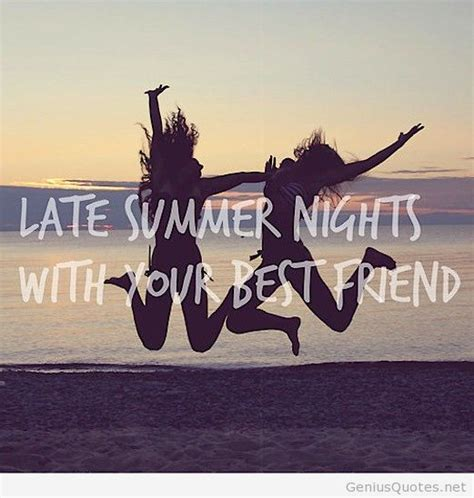 Summer Nights Quote With Best Friends