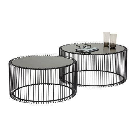 drum coffee table table basse contemporaine wire kare design