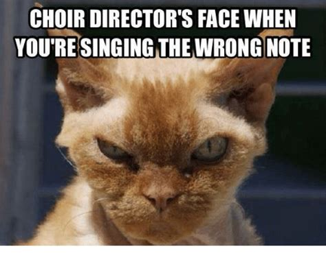 Choir Memes - choir director s face when you re singing the wrong note meme on me me