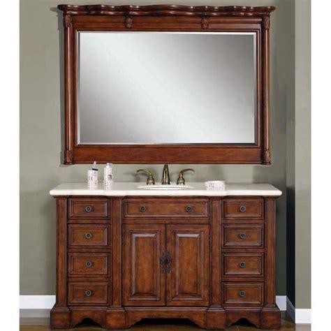 "58"" Perfecta PA 273 Single Sink Cabinet Bathroom Vanity"