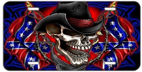 custom license plate skull cowboy  ebay motors parts