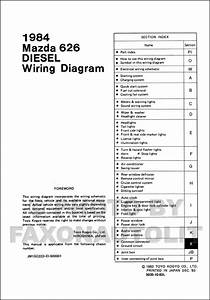 1984 Mazda 626 Diesel Wiring Diagram Manual Original
