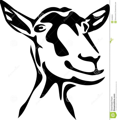 goat clipart black and white silhouette of goat stock photos image 14336073 goats