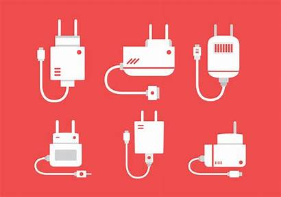 Charger Phone Vector Flat Clipart Graphics Edit