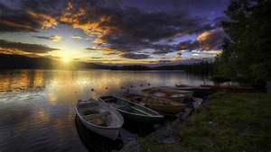 Boats In The Sunset Wallpaper Wallpaper Studio 10 Tens