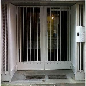 porte d39entree With porte de garage coulissante jumelé avec porte métallique blindée