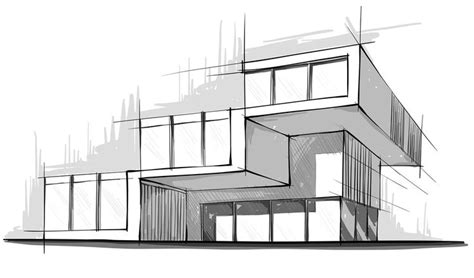 Modernes Haus Zeichnen by Modern Architecture Sketches Search Sketching