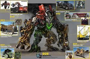 Devastator and Constructicons concept art - TFW2005.com