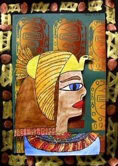 egyptian art kunstunterricht  klasse pinterest