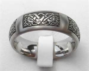 engraved mens wedding bands celtic knot titanium ring for in the uk