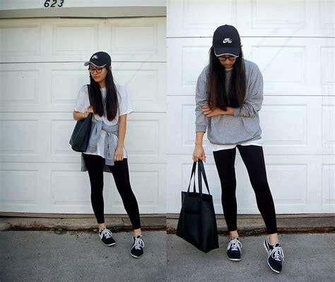 Sheila - Calvin Klein Black Leggings Hanes White T Shirt Sweatshirt Nike Baseball Hat Nike ...
