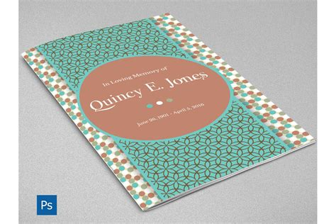 turquoise template turquoise funeral program template