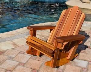Adirondack Rocking Chair - Adirondack Chairs Forever Redwood