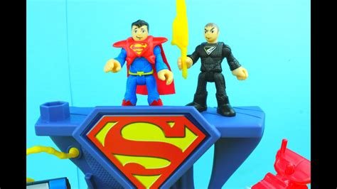 imaginext superman playset dc super friends fisher price
