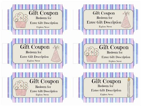 birthday coupon free custom birthday coupons customize print at home