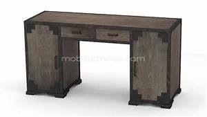 Bureau Bois Metal : mesa de despacho de estilo industrial en madera y metal ~ Teatrodelosmanantiales.com Idées de Décoration
