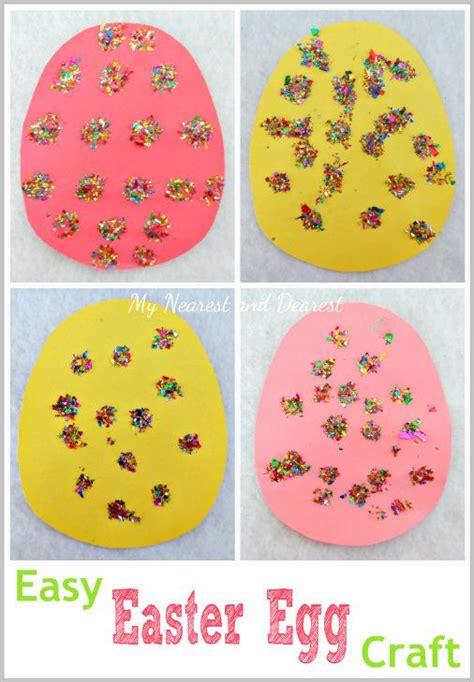 easy easter craft  toddlers  preschoolers quick