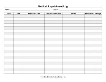 This Medical Appointment Log Can Be Kept For Personal. Student Id Card Online Template. Free Body Shop Estimate Template. Wedding Program Templates Free Online Template. Printable Bill Tracker Template Free. Sample Resume Of Admin Executive Template. Sample Resume For Engineer Template. Reason Why People Lie Template. Funny Anniversary Messages To Husband