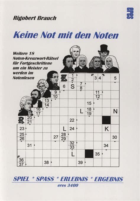 noten kreuzwort raetsel  von rigobert brauch im stretta