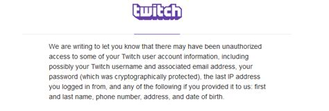 twitch phone number twitch alert live site alerts users to possible