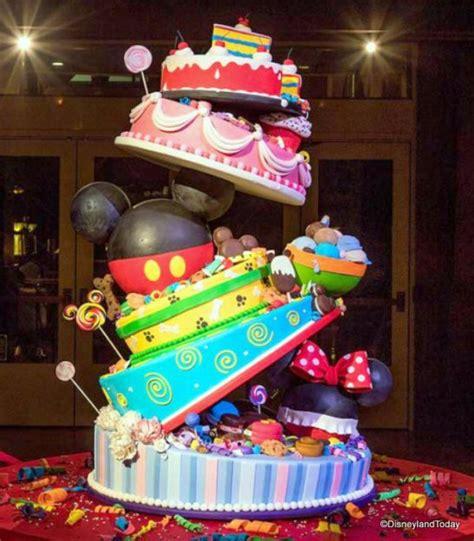 mickeys  birthday cake  display  disneylands