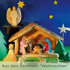 Krippe Zum Spielen : weihnachtskrippe aus holz holzspielzeug weihnachten ~ Frokenaadalensverden.com Haus und Dekorationen