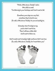 """Walk a Little Slower, Daddy"" Printable Poem - Crafty Morning"
