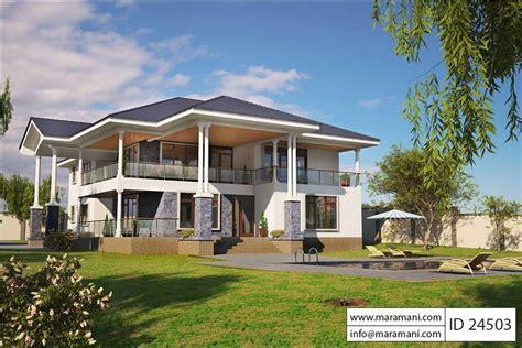bed contemporary villa plan id  villa plans