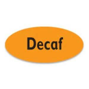 Decaf Coffee Labels
