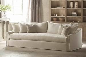 Comfortable white slipcovered sofa that brings for White slipcovered sofas