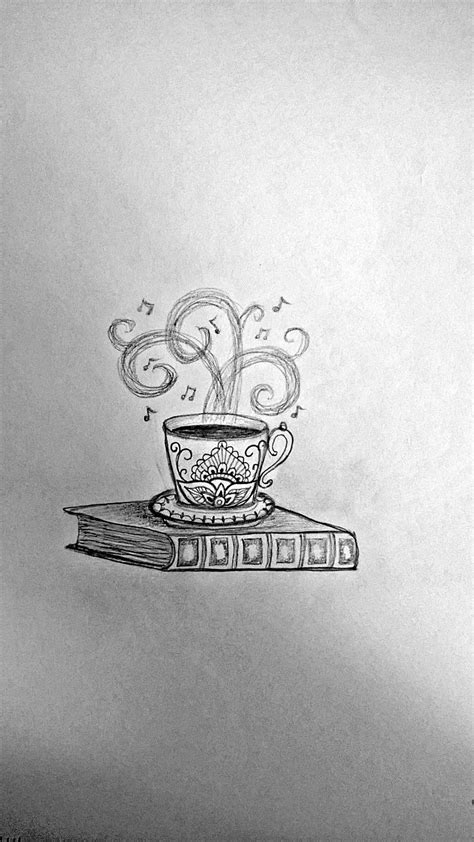 Coffee cup & book idea #3 | Coffee tattoos, Music tattoos